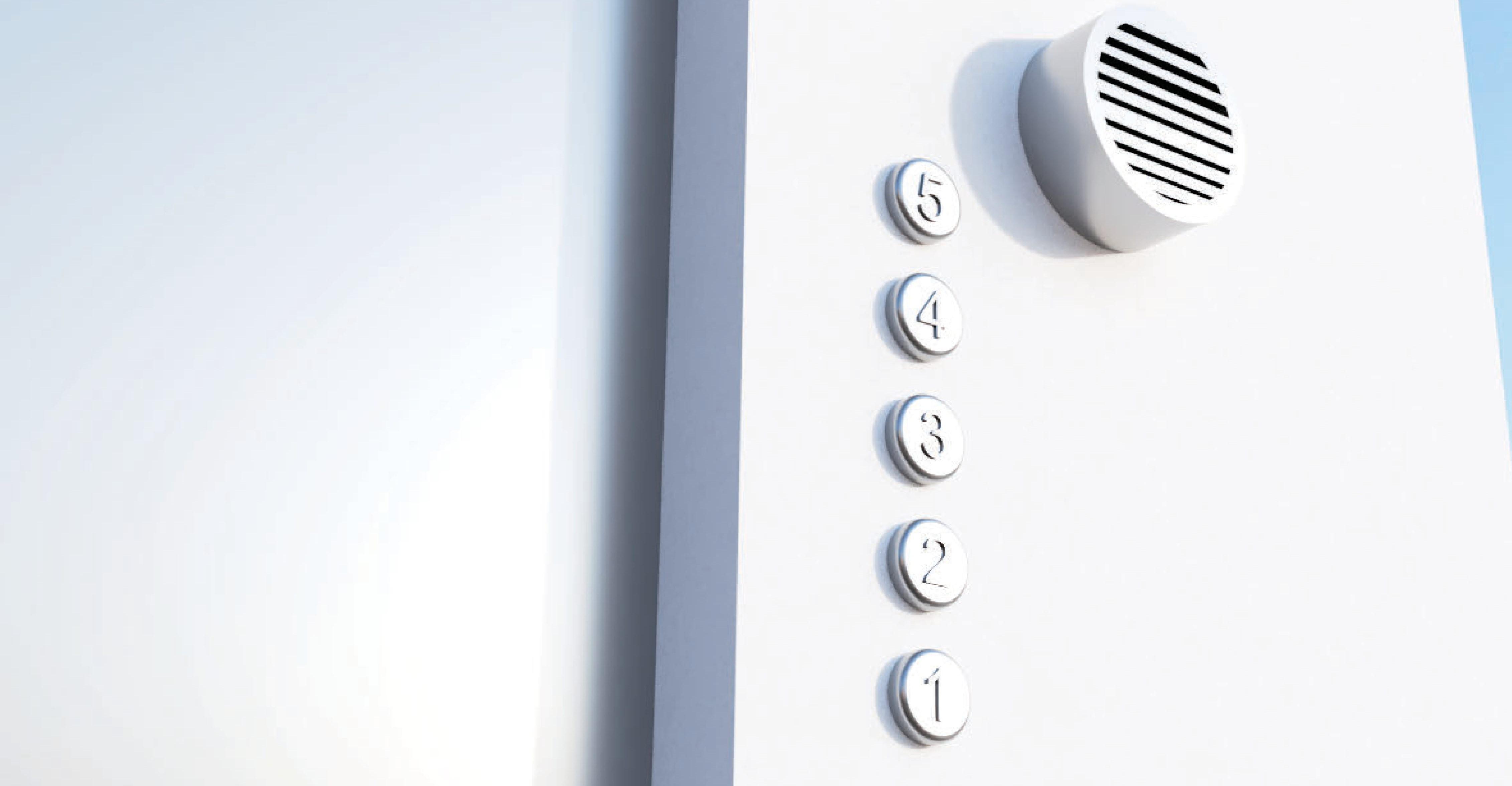 視覚障碍者のための音声付きエレベータボタン