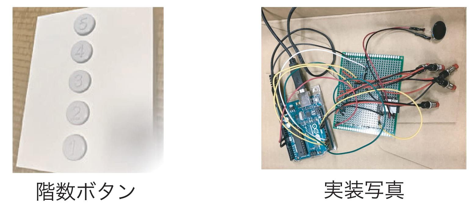 アイデアと仕組み 視覚障碍者のための音声付きエレベータボタン